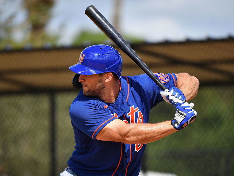 Watch: Tebow hits 1st HR with Mets during spring training
