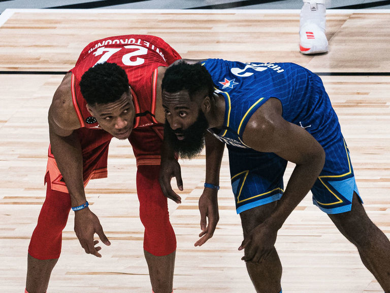 Harden disses Giannis: Being a 7-footer and dunking 'takes no skill'