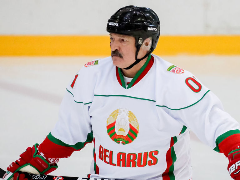 Belarus president after playing hockey: Sports are an 'anti-virus remedy'