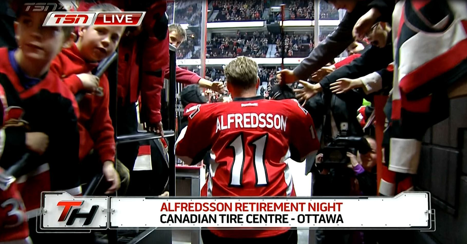 PHOTOS Alfredsson Takes Warmup With Senators For Final